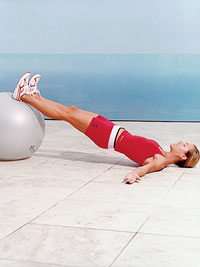 Stability Ball Hip Lift, Option A