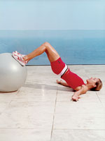 Stability Ball Hip Lift, Option B