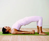 Bridge yoga pose, yoga