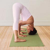 Forward bend yoga pose part 2