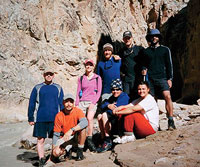 Melissa Daly & Outward Bound Group Canyoneering