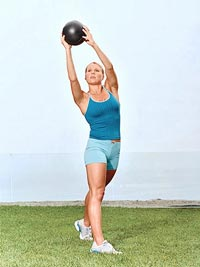Squat Push-Press with Medicine Ball B