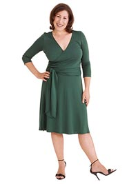 Lisa Renwick in wrap dress