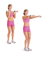 biceps curl front-raise combo