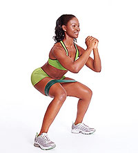 lateral shuffle with tubing butt exercise