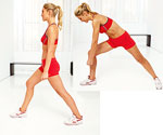 twisting lunge