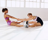 partner saddle stretch