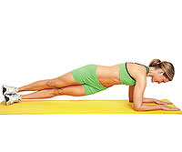 plank with twist
