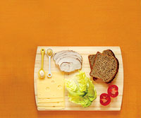 sandwich ingredient cutting board