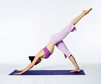 intermediate yoga downward dog position