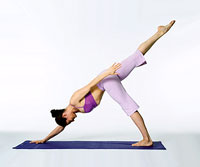 advanced yoga downward dog position