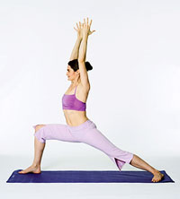 intermediate yoga lunge position