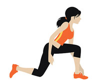 tennis lunge illustration