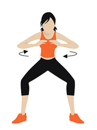 spin squat illustration