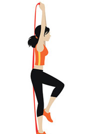 one-legged triceps extension illustration