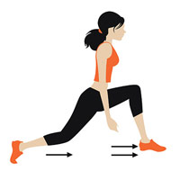 jump lunge illustration