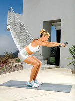 straight-arm press back position A