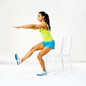seated one-legged squat