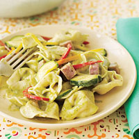 creamy pesto tortellini