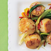 peppered scallops