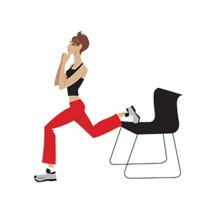 bulgarian lunge illustration