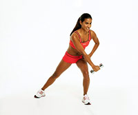 Side Lunge With Twist and Row