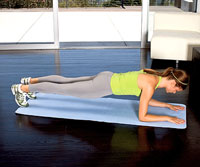 Elbow Plank to Prone Press-Up B