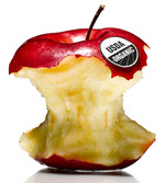 Apple with USDA sticker