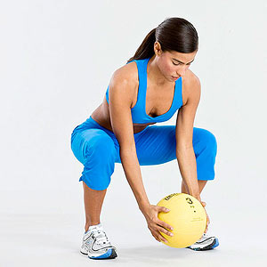 Medicine Ball Push/Catch, Squat