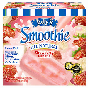 Edy?s All Natural Strawberry Banana Smoothie & Fozen Yogurt Bars