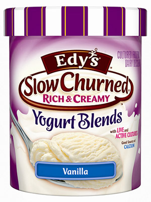 Edy?s Slow Churned Rich & Creamy Yogurt Blends Vanilla