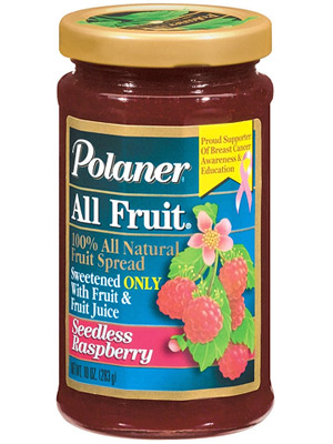 Polaner 100% All Natural Seedless Raspberry Fruit Spread