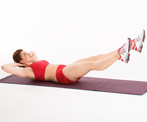 Long-Leg Scissor Crunch