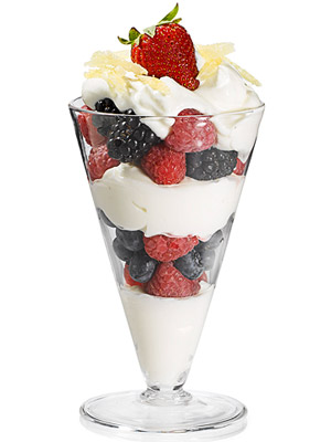 Yogurt and Berry Parfait With Candied Ginger