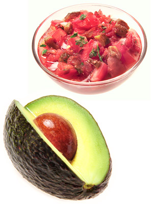Salsa and Avocado