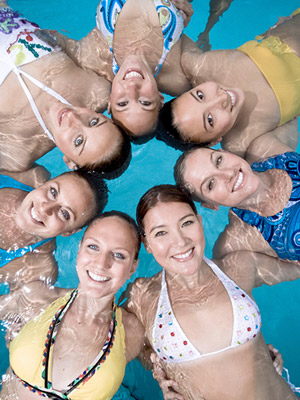 The 2008 U.S. Olympics Synchronized Swimming Team