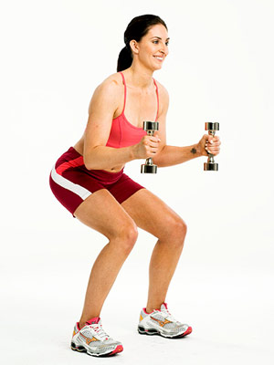 squat with weight shift