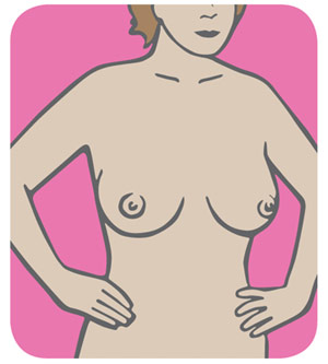 breast self exam step 4