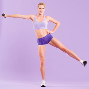 Curtsy Lunge/Lateral Raise