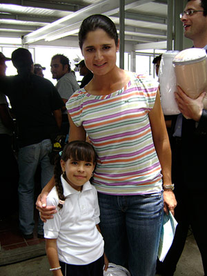 Lorena Ochoa at La Barranca school in Mexico