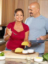 Valerie Bertinelli cooking her favorite recipe