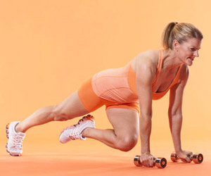 Plank twist and push-up