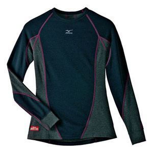 Mizuno Breath Thermo Stretch L/S Crew