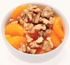 mandarin oranges topped with chopped walnuts