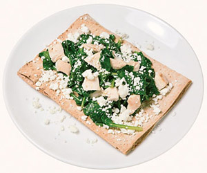 Florentine Chicken & Goat Cheese Flatbread