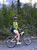 Rachel Sturtz biking in Alaska