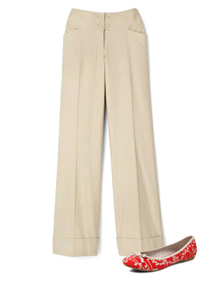 Worthington trousers with Old Navy flats
