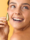 Cucumber facial treatment