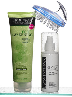 John Frieda Collection Root Awakening, Jonathan Stylist Professional Series Prep Spray