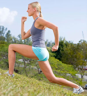 Power lunge with leg lift